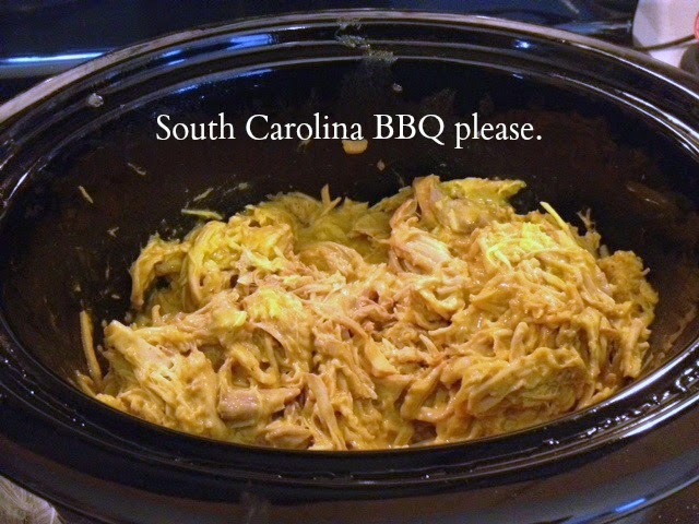 bbq, pork, crockpot, southern cookin', barbecue, carolina