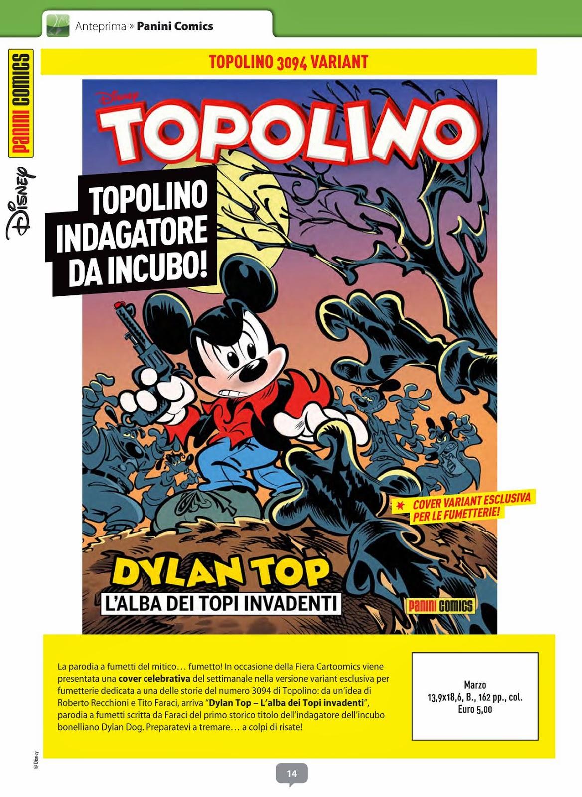 Topolino #3094 - variant cover (Anteprima #282 Febbraio 2015)