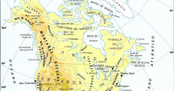 Me Gustan Las Sociales América Mapa Físico