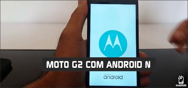 Cyanogenmod 14.1 Moto G2 (Android 7.1 Nougat)