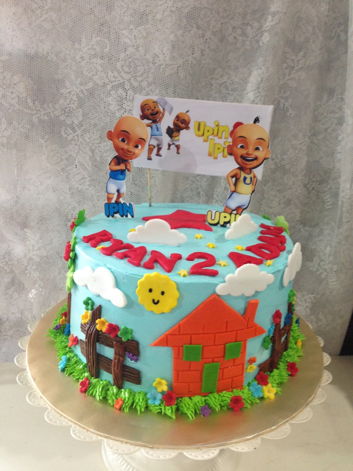 ninie cakes house Upin Ipin Fondant Birthday Cake