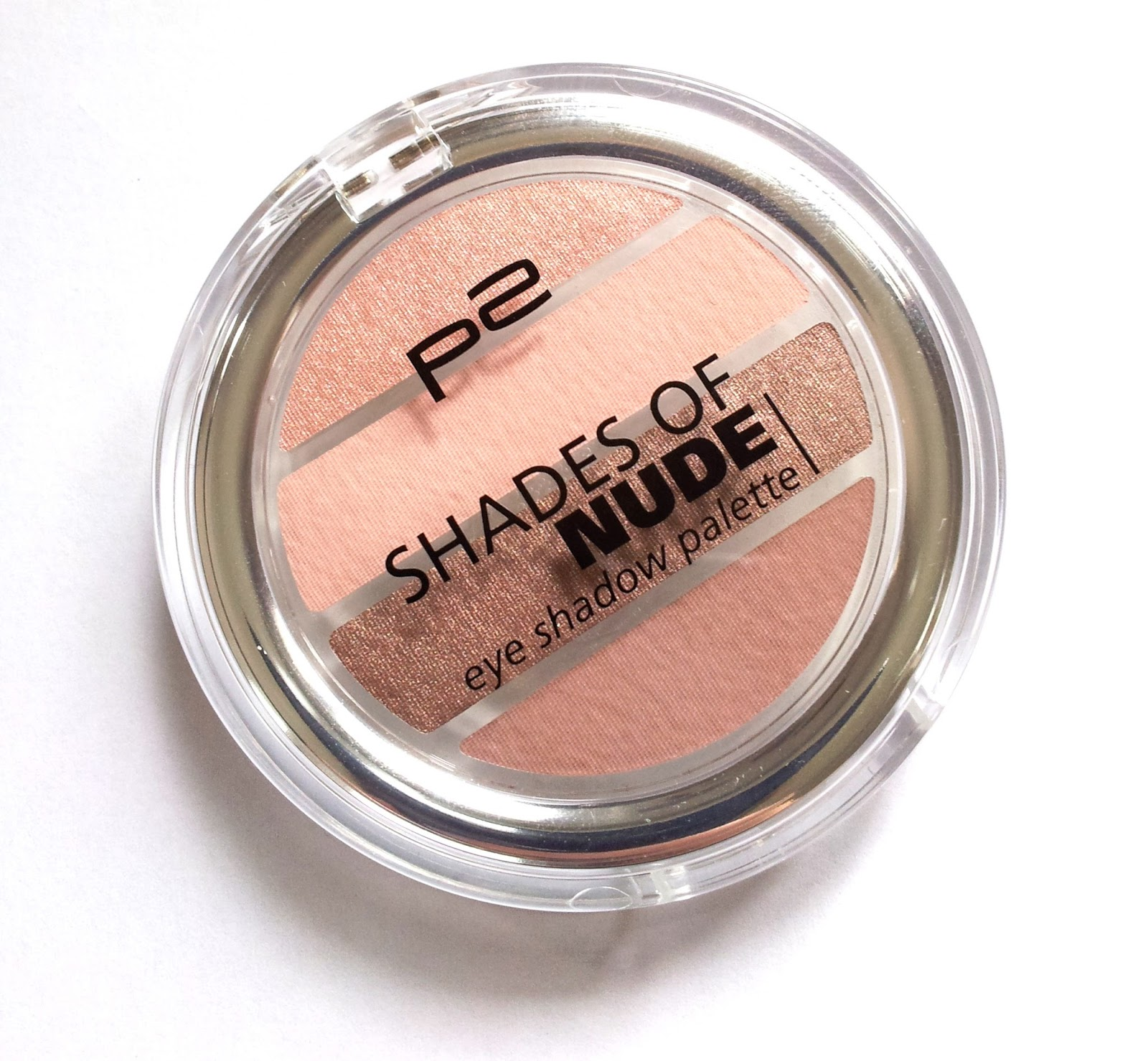 "p2  Shades of nude eye shadow palette ""020 bright nude"""