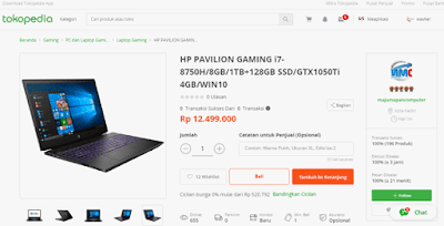 hp pavilion laptop gaming seri termurah