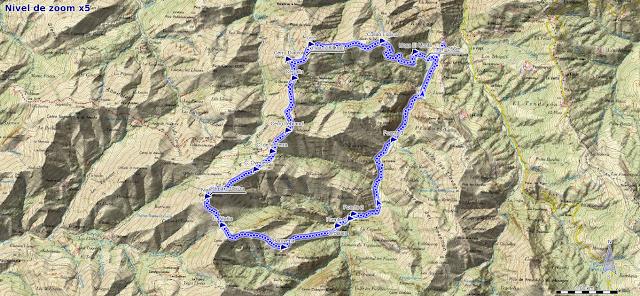 Mapa ruta Niañu y Torre desde La Matosa