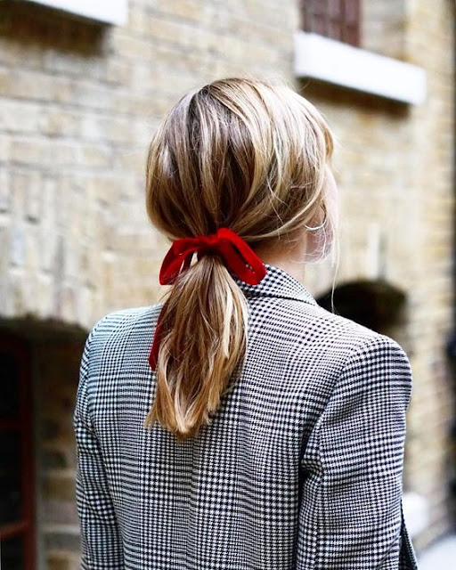 red velvet hair bow