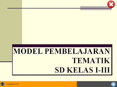 Model Pembelajaran Tematik Kelas 1, 2, 3 SD/MI Kurikulum 2013