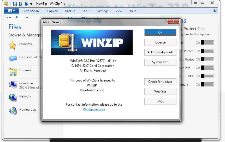 winzip 22 activation code free