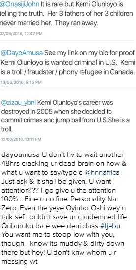 "For calling her a ""hoe"", Dayo Amusa tears Kemi Olunloyo to shreds on IG"