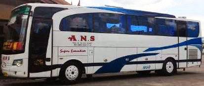 rute dan tarif bus ANS jurusan Padang, Bukittinggi, Jakarta, Depok, Bandung, Pekanbaru