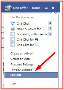 how to logout of facebook