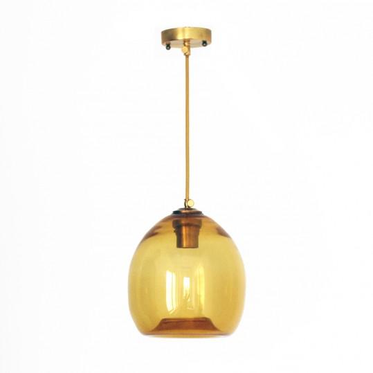 светильник colorglass с желтым плафоном
