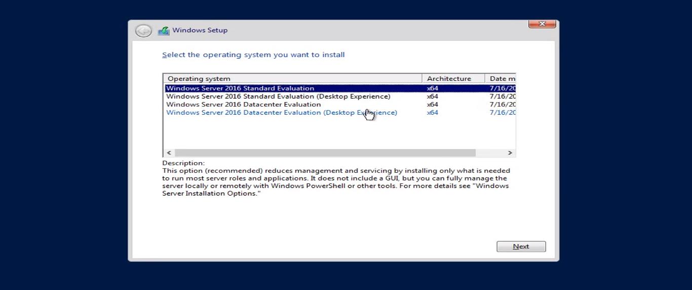 Installation of Windows Server 2016 (Step by Step Tutorial