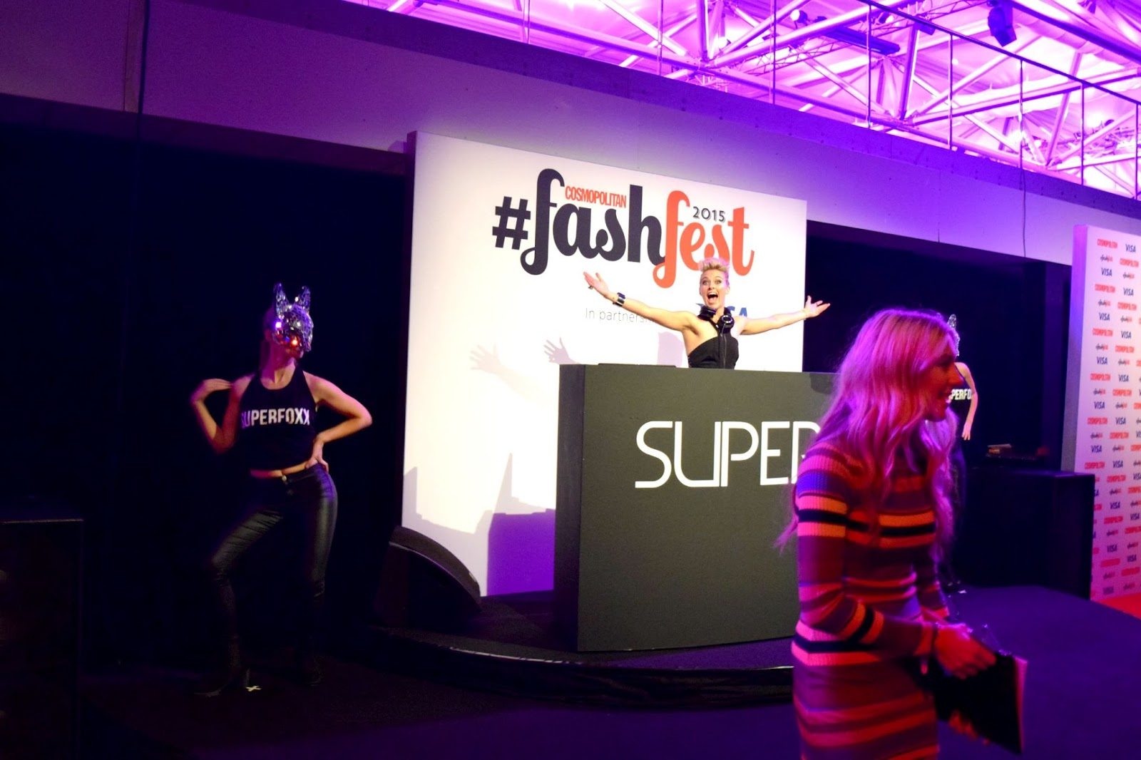 Krystal Roxx performing at FashFest Cosmopolitan