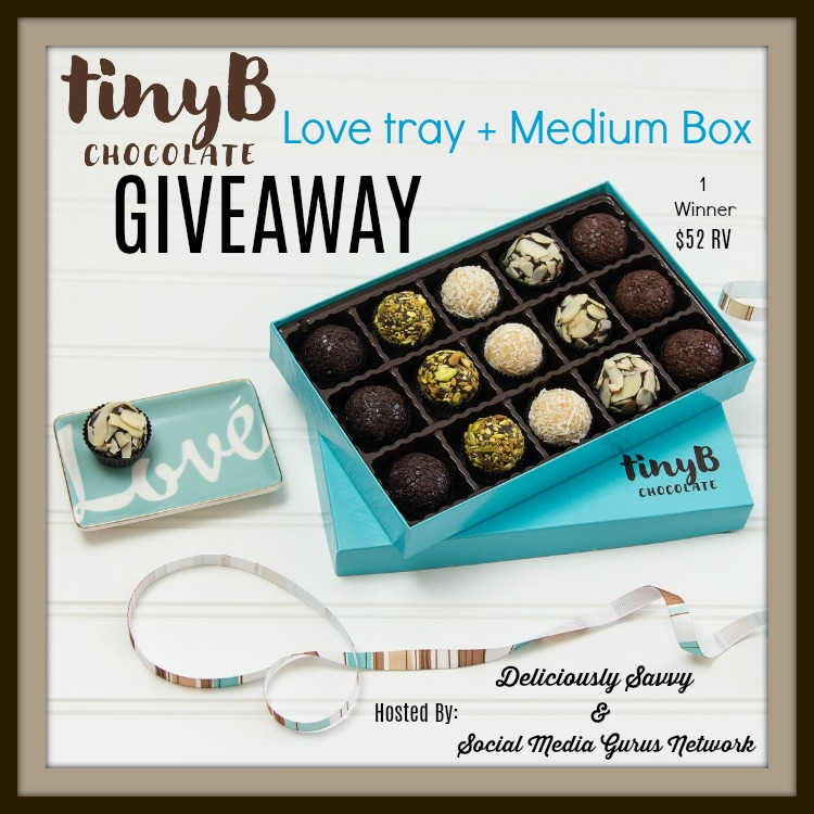 tiny B love chocolate tray
