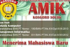 Pendaftaran Mahasiswa Baru (AMIK KOSGORO-Solok) 2021-2022