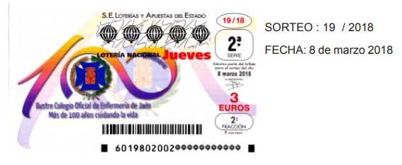 detalle de los décimos de loteria jueves