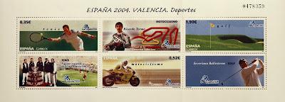 EXPOSICIÓN MUNDIAL DE FILATELIA, VALENCIA 2004, DEPORTES