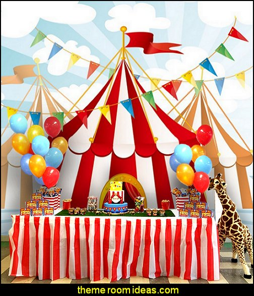 circus backdrop  circus themed party decorations - carnival circus theme party decorations - circus carnival themed birthday party - Ice Cream theme decor -  circus party supplies - Circus Party Props - circus costumes - circus carnival party supplies