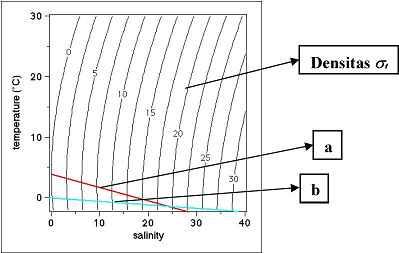 Grafik temperatur dan salinitas