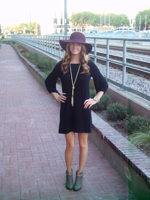 Burgundy Floppy Hat Outfit