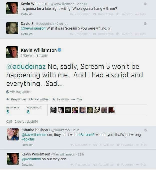 Kevin Williamson no escribirá 'Scream 5'