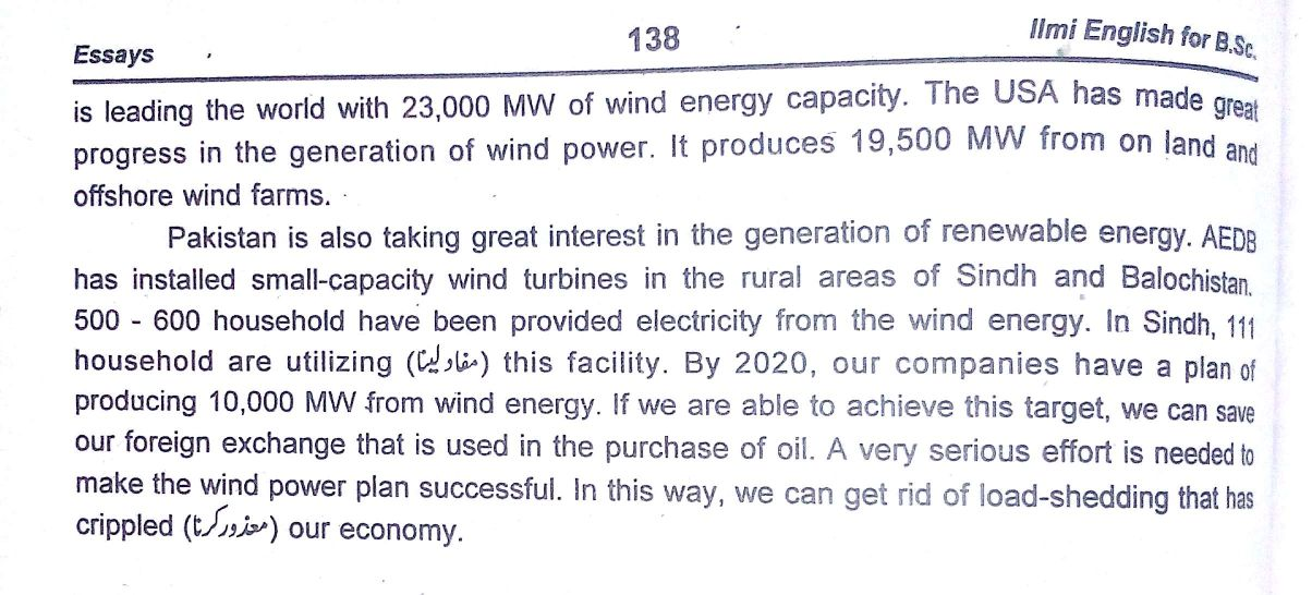 Wind energy essay conclusion