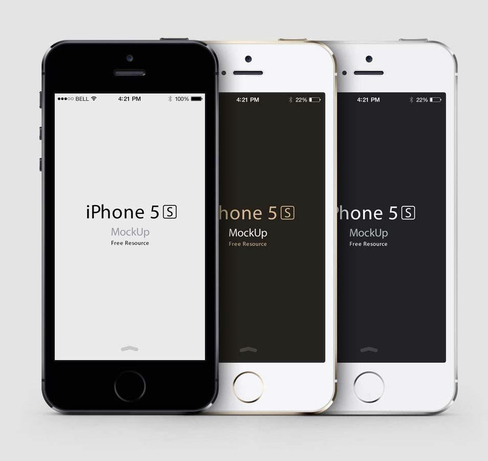 iPhone 5S Mockup PSD Design