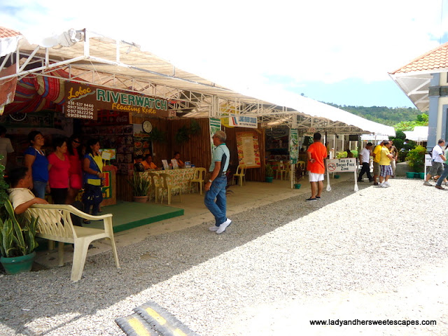 Booking counters at Loboc River Bohol