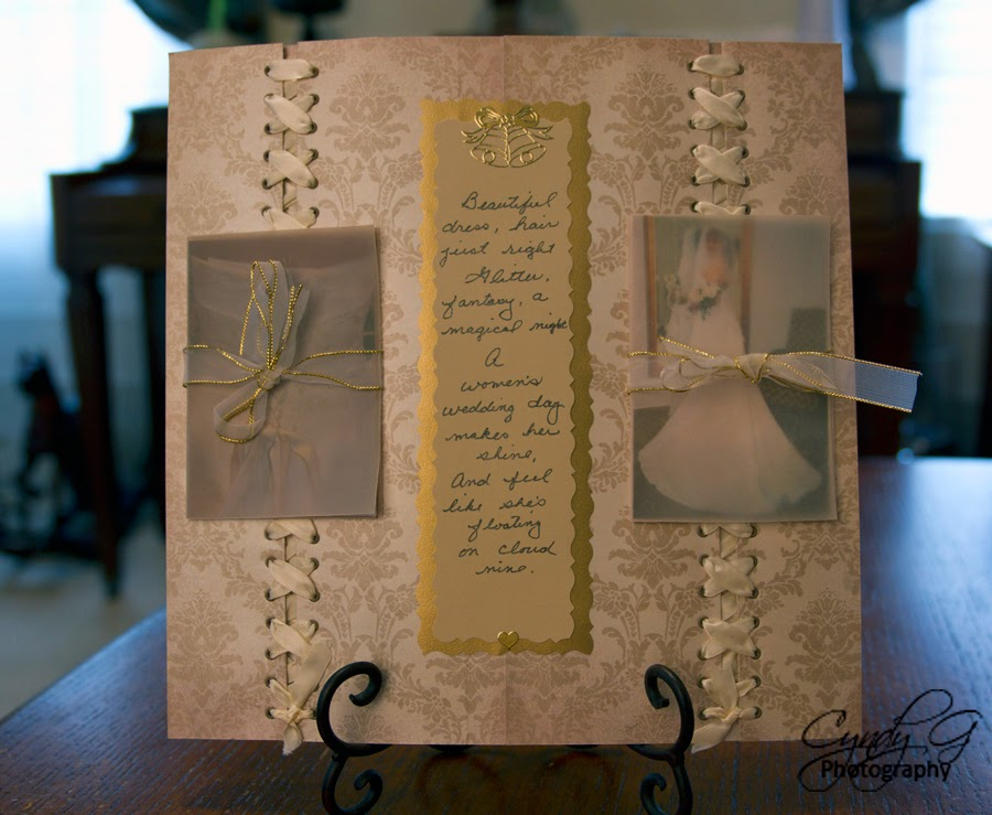 Scrapbook page with eyelets and lacing