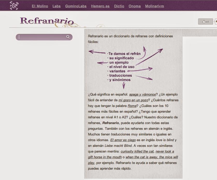 Educación tecnológica: Refranario: el diccionario de los refranes