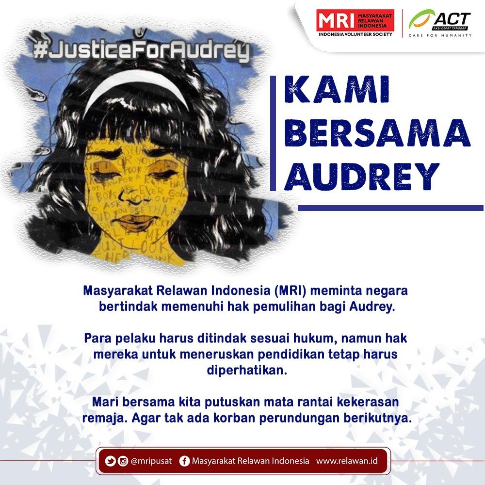 Masyarakat Relawan Indonesia Desak Pemerintah Tuntaskan Kasus Audrey