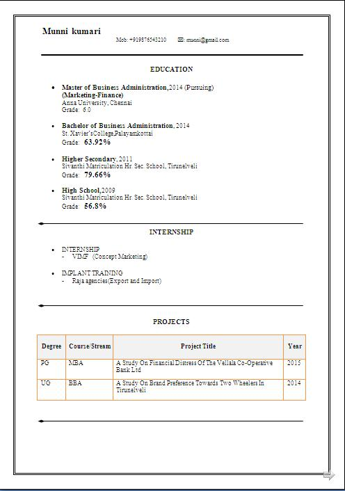 international cv template free download