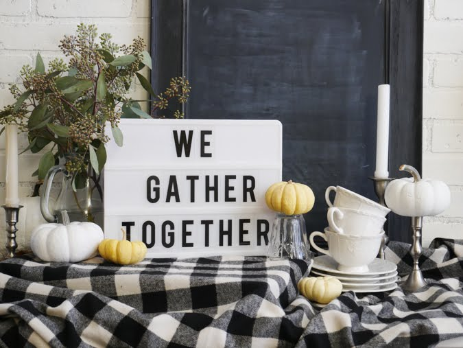 Thanksgiving Day Greetings With the Heidi Swapp Lightbox by Jamie Pate | @jamiepate for @heidiswapp