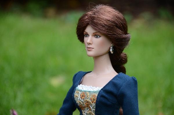 Szkocka suknia dla lalki.