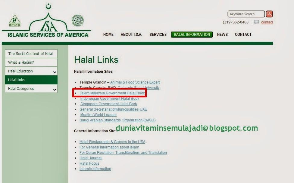 islamic services of america, badan keluarkan sijil halal shaklee