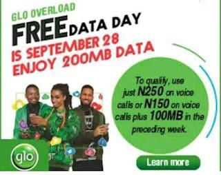 glo free data day September