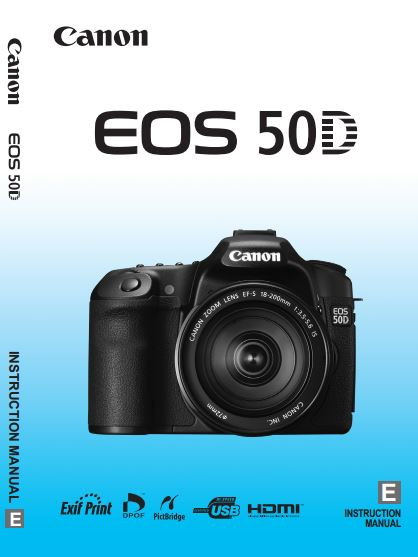 Canon camera news 2019: canon eos 50d pdf user guide / manual.