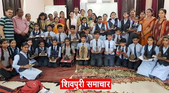 भाविप का संस्कृतिक सप्ताह: विद्यालय में आयोजित की गई रंगोली प्रतियोगिता | Shivpuri News