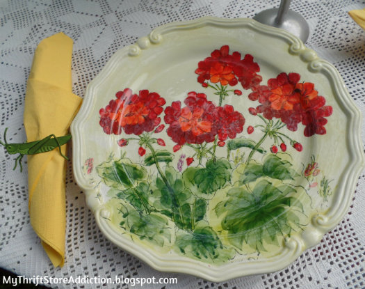 Geranium dishes