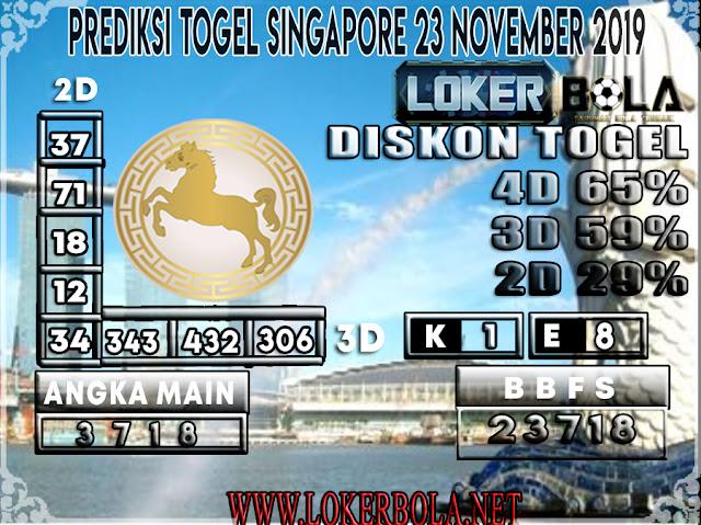 PREDIKSI TOGEL SINGAPORE LOKERBOLA 23 NOVEMBER 2019