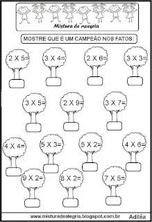 Fatos da multiplicação