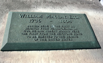William Maclay Historical Marker and Grave in Harrisburg, Pennsylvania