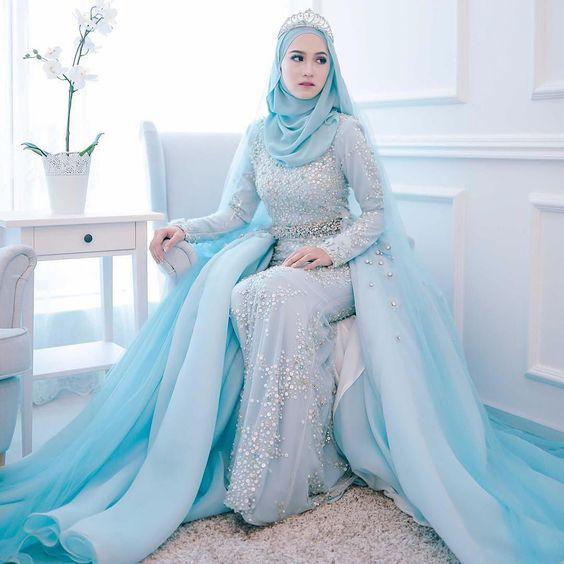 30++ Inspirasi Baju Pengantin Muslim 2017 | Tutorial Hijab