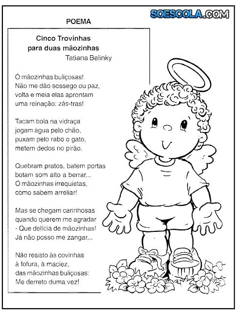 Poemas sobre Crianças e Fadas para Imprimir