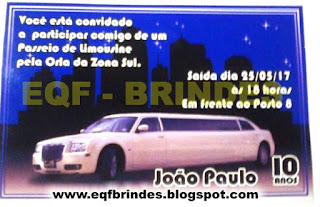 limousine branca, convite limousine branca, lembrancinha limousine branca, brinde limousine branca, festa limousine branca, tema limousine branca