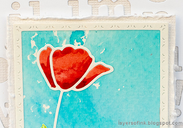 Layers of ink - Poppy Card Tutorial by Anna-Karin Evaldsson. SSS Poppy Frame.