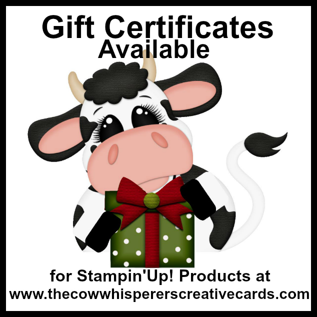 Gift Certificate, Stampin Up, Present, Perfect Gift,