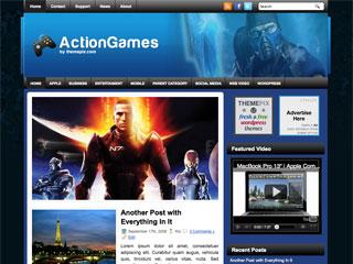 ActionGames Free WordPress Theme