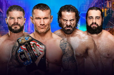 4 way Randy Orton Jinder Mahal Bobby Roode US Tile Aiden English