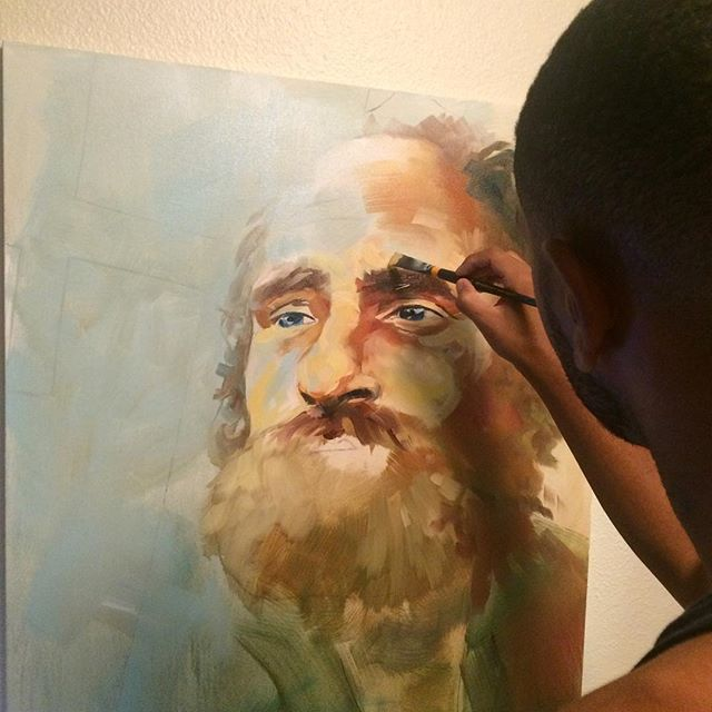 Meet The Artist Who Paints And Sells Portraits Of Homeless People, Giving Them The Profits